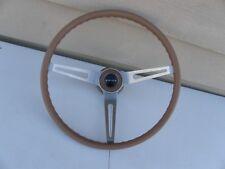 Skylark Gs Chevy Corvette 3 Spoke Comfort Grip Steering Wheel Saddle Tan Brown