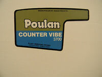 Poulan Chainsaw 3700 Counter Vibe Decal Sticker Dr30