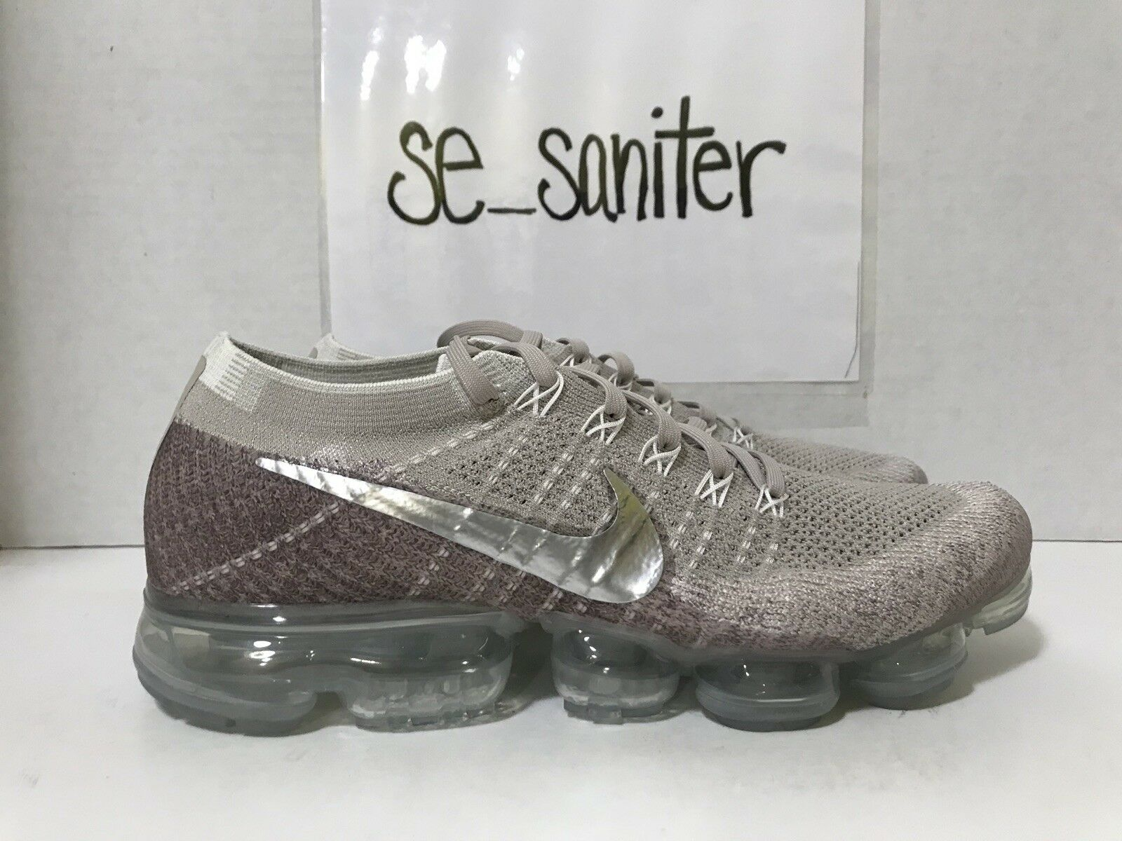 b945942ec0 Nike Womens Air Vapormax Flyknit String Chrome Sunset Glow 849557-202 Size  12