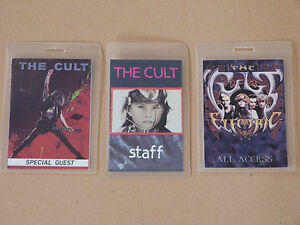 THE-CULT-Collection-of-THREE-3-Laminated-Backstage-Tour-Passes