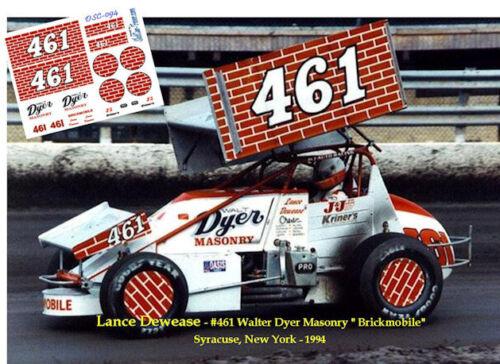 CD/_SC/_094 #461 Lance Dewease Dyer Masonary Sprint Car  1:24 Scale DECALS