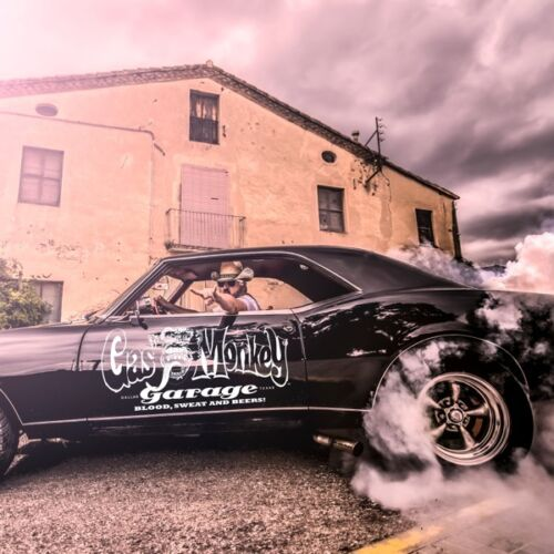 Official Gas Monkey Garage /'Custom Hot Rods/' T-Shirt Route 66 Fast /'n/' Loud