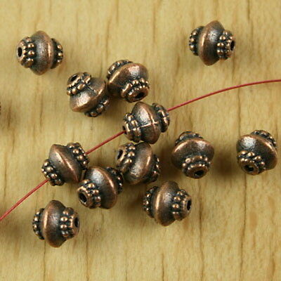 30pcs copper-tone pulley spacer beads H2194