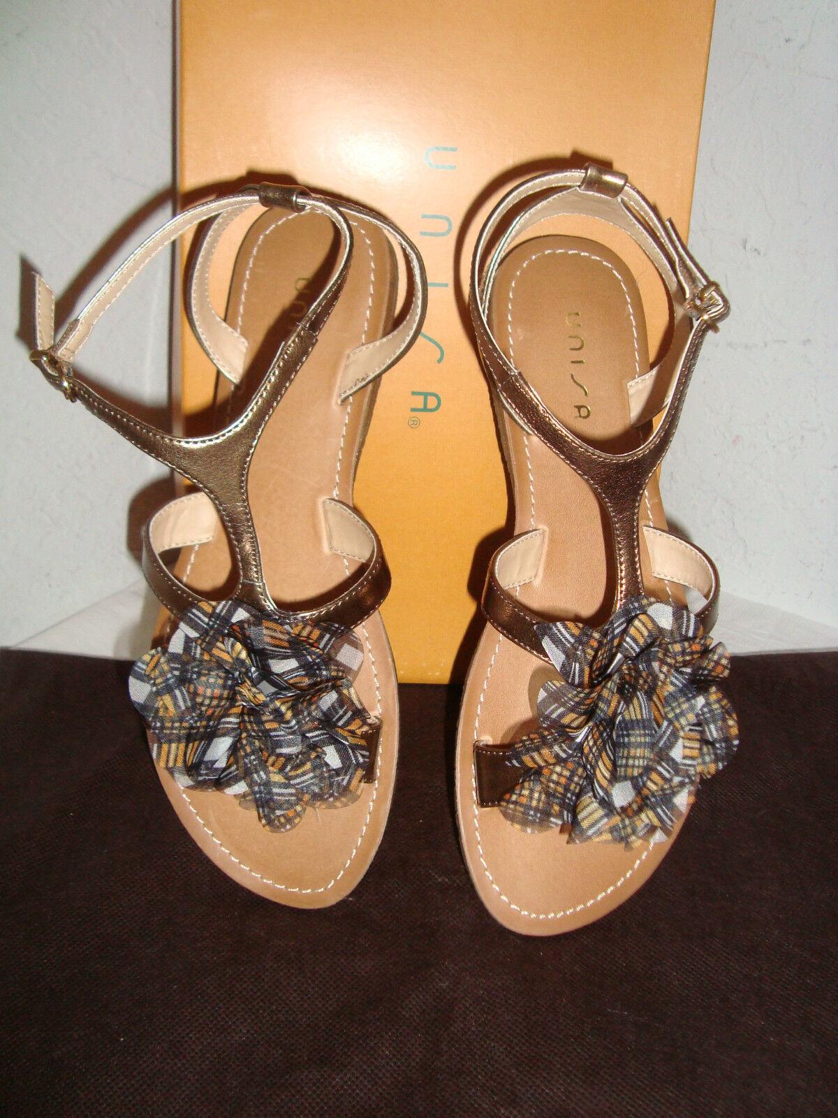 NEU Unisa Jamila Bronze Multi Synthetic Sandales 7.5 Medium Schuhes