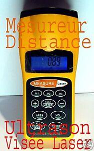 Telemetre-Mesure-distance-Ultrason-visee-laser