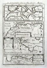 N. AFRICA, ALGERIA, LIBYA, ANCIENT MAURITANIA Mallet original antique map 1719