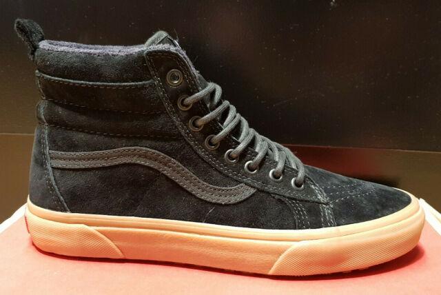 VANS Sk8 Hi MTE Schuhe blackgum Leder NEU EU 45 US 11,5