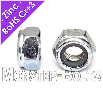 Nylon Insert Lock Nuts Steel Zinc RoHS CR+3 M3 M4 M5 M6 M8 M10 DIN 985 CL 10 8