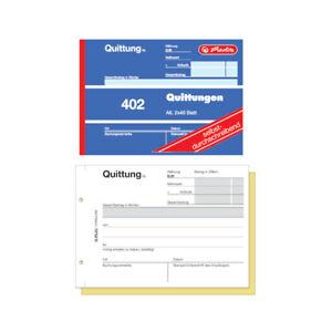 Herlitz Quittungsblock 402 / A6 quer / 2x40 Blatt / selbstdurchschreibend