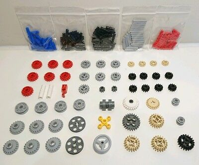 Lego Technic 2 x Transmission 32072 Gear Knob Wheel with Axle hole GREY