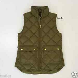 J Crew Excursion Quilted Down Vest Nwt Color Irish Moss