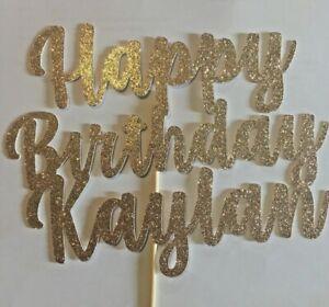 Custom Cake Topper Farewell Date, Good Luck,Leaving Glitter Any Words