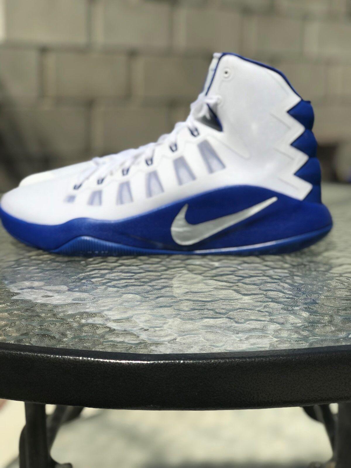 Nike Mens Hyperdunk 2018 Basketball Shoe White and Blue Size 14