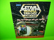 Sega STAR WARS TRILOGY ARCADE 1993 Original NOS Video Arcade Game Promo Flyer