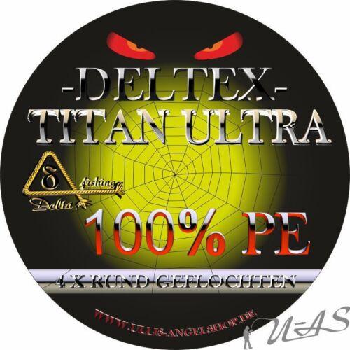 DELTEX Titan Ultra Grau 0,35mm 31.80kg 1000M 4 fach Rund Geflochtene Angelschnur