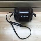 Vintage Nikon SLR Camera Case Brown w/Purple Soft Velvet Interior