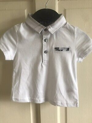 BNWOT River Island Collared T-Shirt White Age 0-24 Months Boys