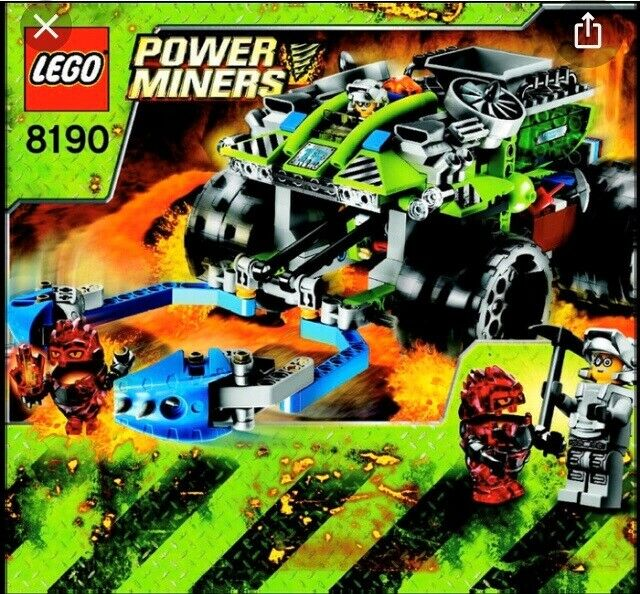 Lego Power Miners, 8190,8189,8188,8962,8957,8956