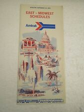 OLDER AMTRAK TIMETABLES- EAST - MIDWEST SCHEDULES 1974- NEW- H1