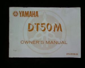 Details about Yamaha DT50, DT50M, Original Factory OWNERS MANUAL on