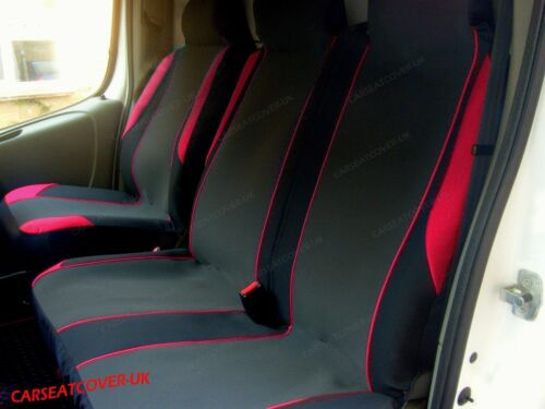16 on Toyota Proace Double RED MotorSport VAN Seat COVERS Single