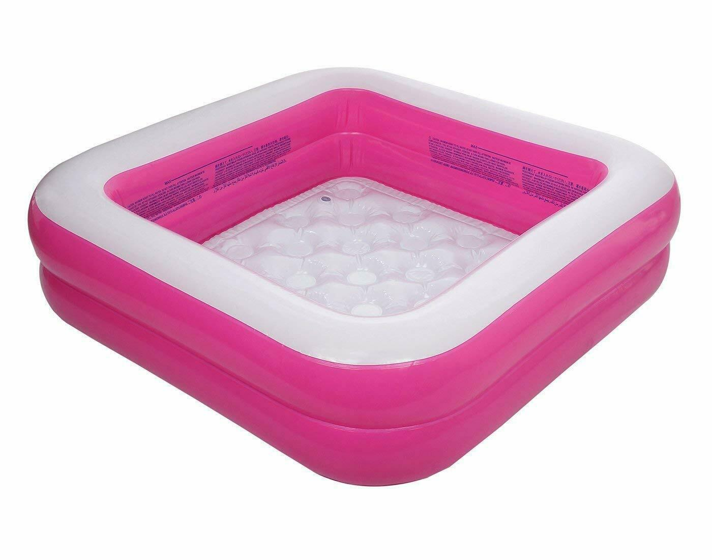 DZYARA™ 2 Stripped Inflatable Square Pool Swimming Pool for Baby Whale Fun Pool