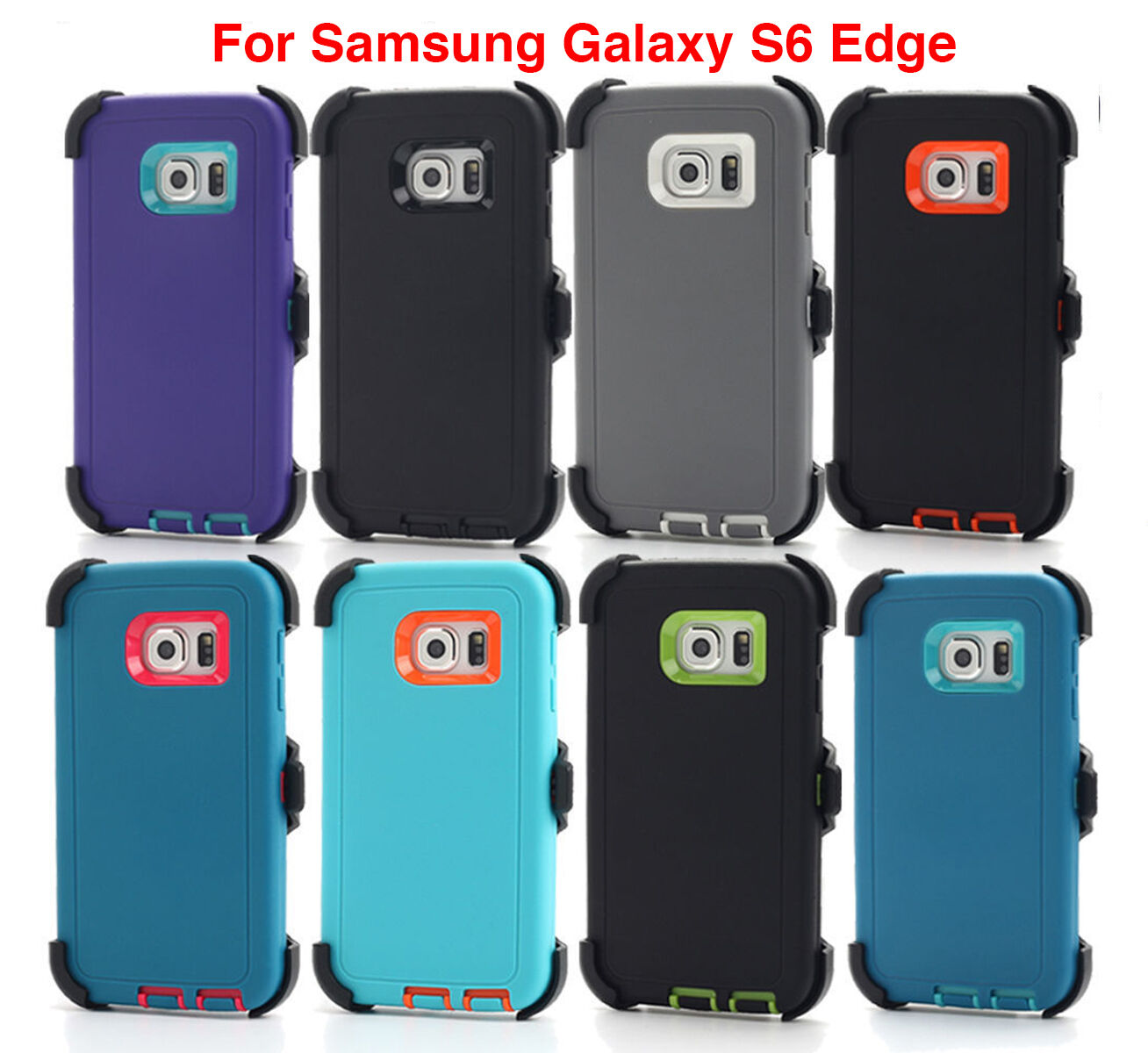 new product 0deb6 25102 Details about For Samsung Galaxy S6 Edge Case Cover Screen (Fits Otterbox  Defender Belt Clip)