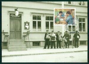 Consciencieux Norvège Mk 1997 Postkontor Bureau De Poste Postier Carte Maximum Maxi Card Mc Cm En91-afficher Le Titre D'origine