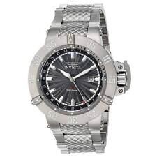 Invicta 21727 Men's Subaqua Gunmetal Dial GMT Steel Bracelet Watch
