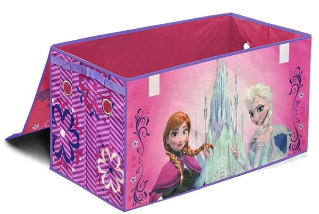 Charmant Disney Frozen Anna And Elsa Pink Collapsible Box Storage Trunk Kids Baby  Toy New