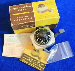 Vintage NOS Airguide Nomad 79B Deluxe Dash Compass in Box Accessory