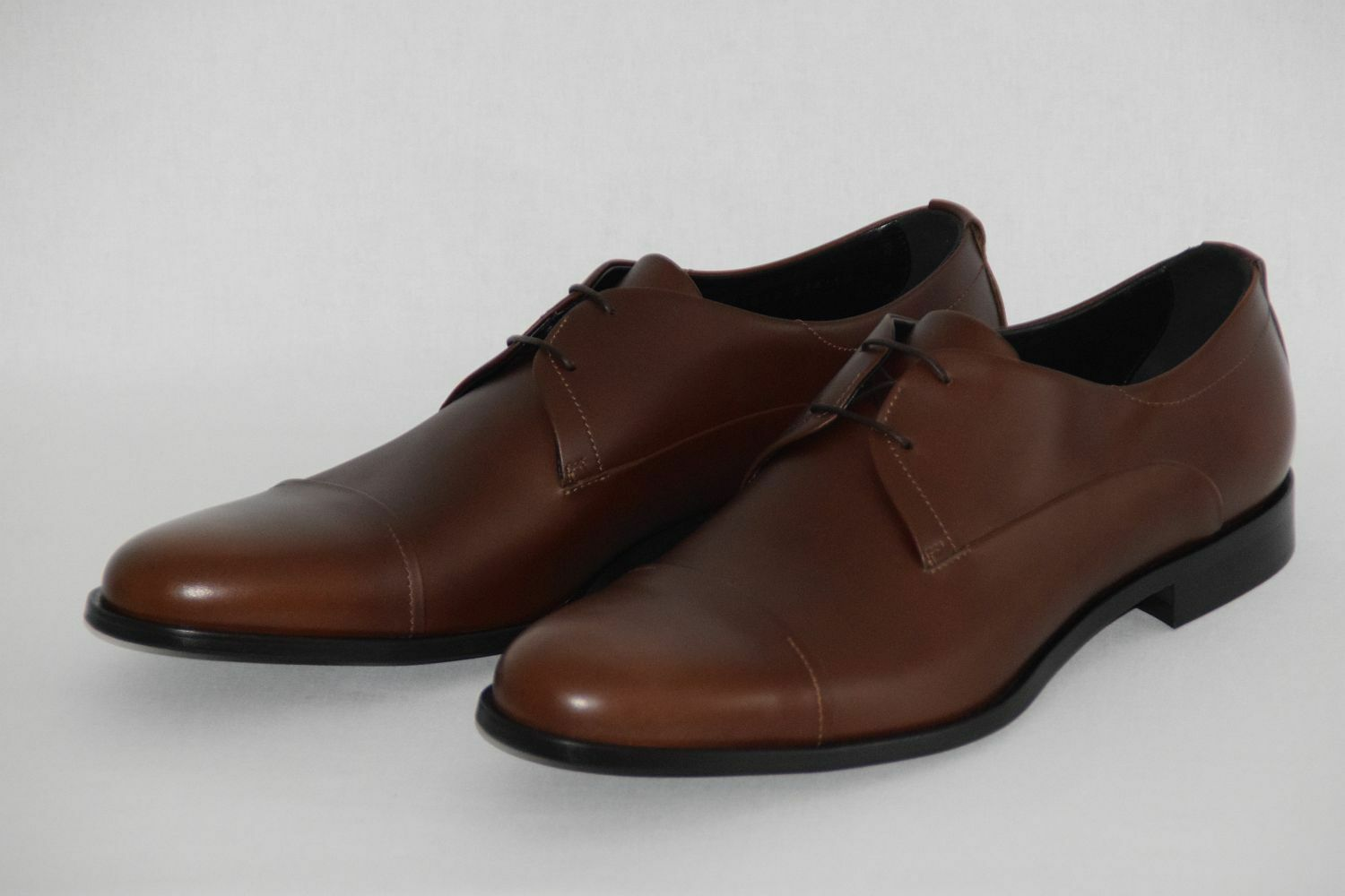 HUGO BOSS Business Chaussures, Taille UE 44, UK 10, US 11, Made in , Medium marron