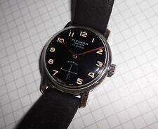 Caballeros vieja ⌚ Fleurier watch puntero roja 40er vintage cal as 1130 militäruhr ww2