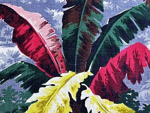 SALE! Art Deco Jungle Barkcloth Vintage Fabric Drape Curtain Miami Beach PILLOWS