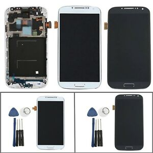 Pour-Samsung-Galaxy-S4-i9505-i9500-Ecran-LCD-Vitre-Tactile-Chassis-Outils