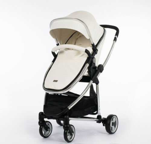 Leatherette Travel System 3 in1 Pram Buggy CarSeat  Changing Bag Footmuff