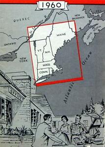 Map Of New England And Quebec.Details About New England New York Quebec Motor Court Lodging Map Brochure 1960 Vintage
