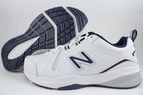 NEW BALANCE 608 V5 EXTRA WIDE 4E EEEE WHITE//NAVY BLUE//GRAY MX608WN5 TRAINER MENS