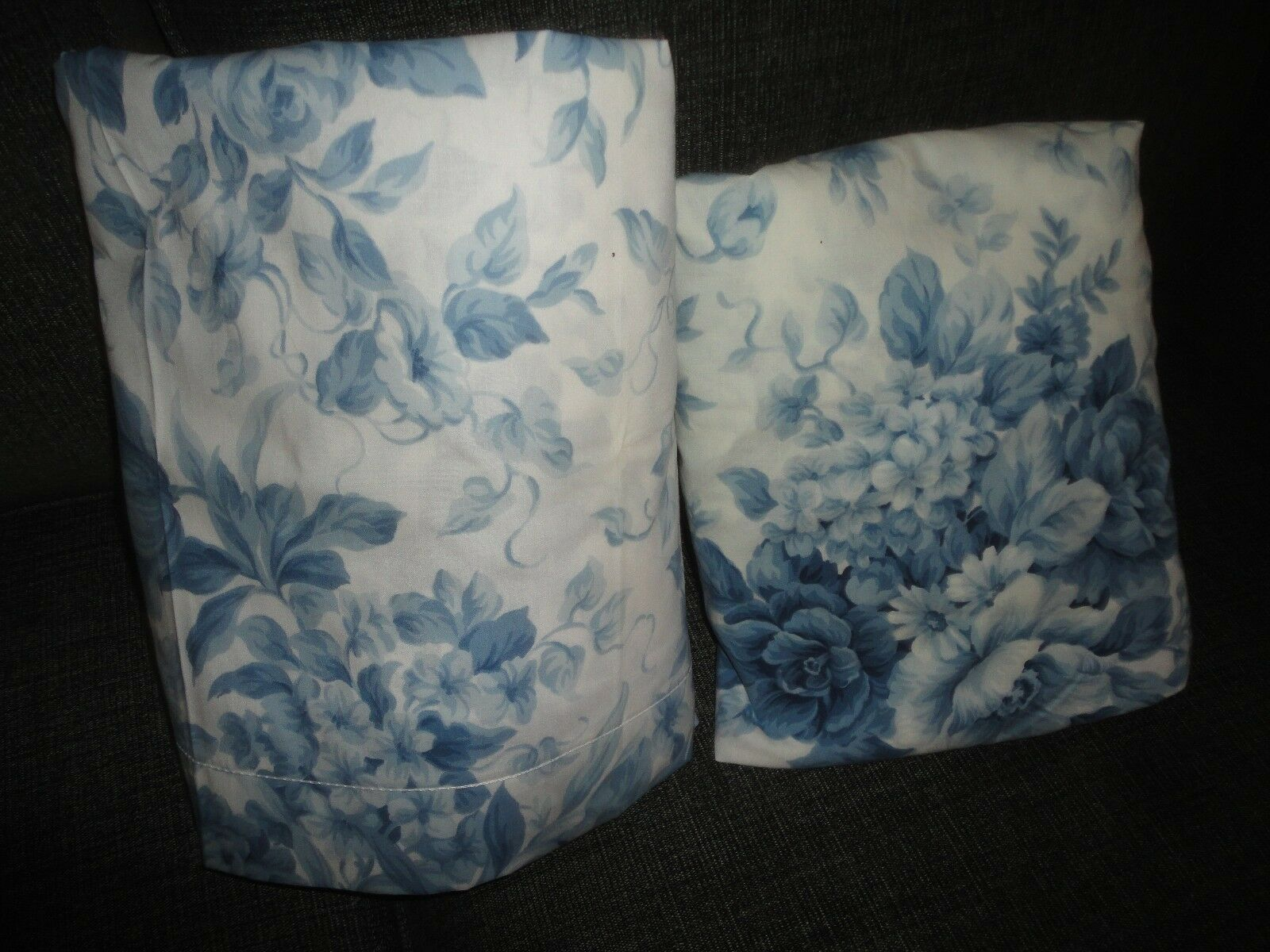 VINTAGE SPRINGS Blau & Weiß FLORAL COUNTRY COTTAGE (2PC) FULL SHEET SET