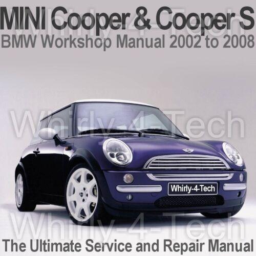 Servizio E Riparazione Manuale CD BMW Mini Cooper /& Cooper S 2002 a 2008 officina