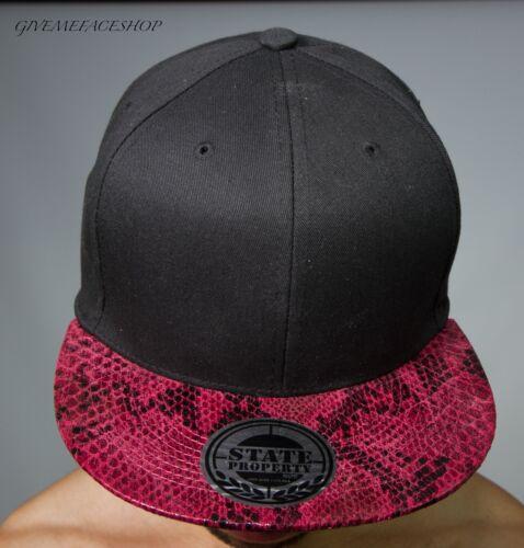 Snapback caps snakeskin flat peak fitted hats retro vintage baseball hiphop