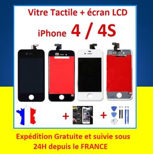 ECRAN-LCD-VITRE-TACTILE-SUR-CHASSIS-POUR-IPHONE-4-4S-NOIR-ou-BLANC-OUTILS