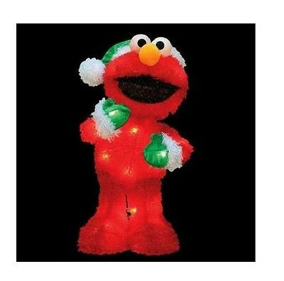 "18"" Sesame Street Lighted Elmo 3-D Soft Tinsel Christmas ..."