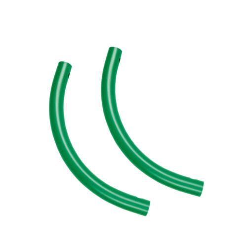 Moveandstic 2er Set Rohrbogen grün Kletterturm Bogenrohr Spielturm Klettergerüst