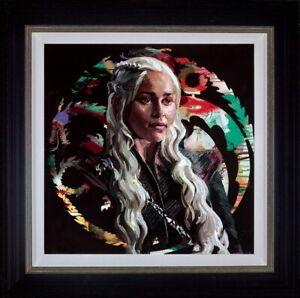Zinsky-Mother-of-Dragons-Framed-Embellished-Canvas-on-Board