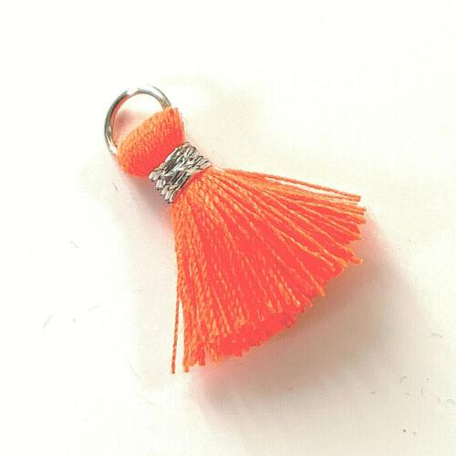 20 mm * silber Quasten Ibiza Style 2 St 36784.1 MiPerla neon-orange