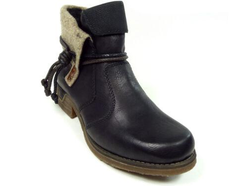 Rieker Damenschuhe Stiefelette Boots in Schwarz 79693-00