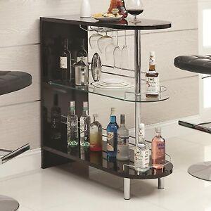 Details About Modern Wine/Liquor Bar Table Room Divider Storage Display  Bottle Glass Furniture