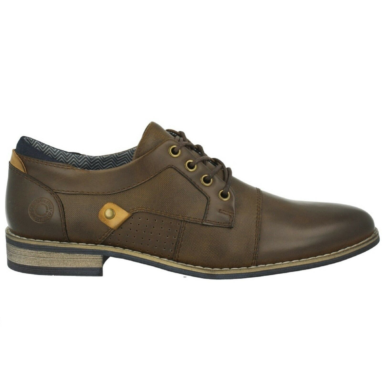 Men's Bull Boxer OXFORD X571-X2-5283A Dark Brown Lace-Up Boot shoes