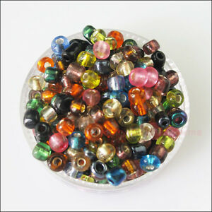 250-New-Charms-Brilliant-Tiny-Seed-Round-Glass-Spacer-Beads-Mixed-4mm